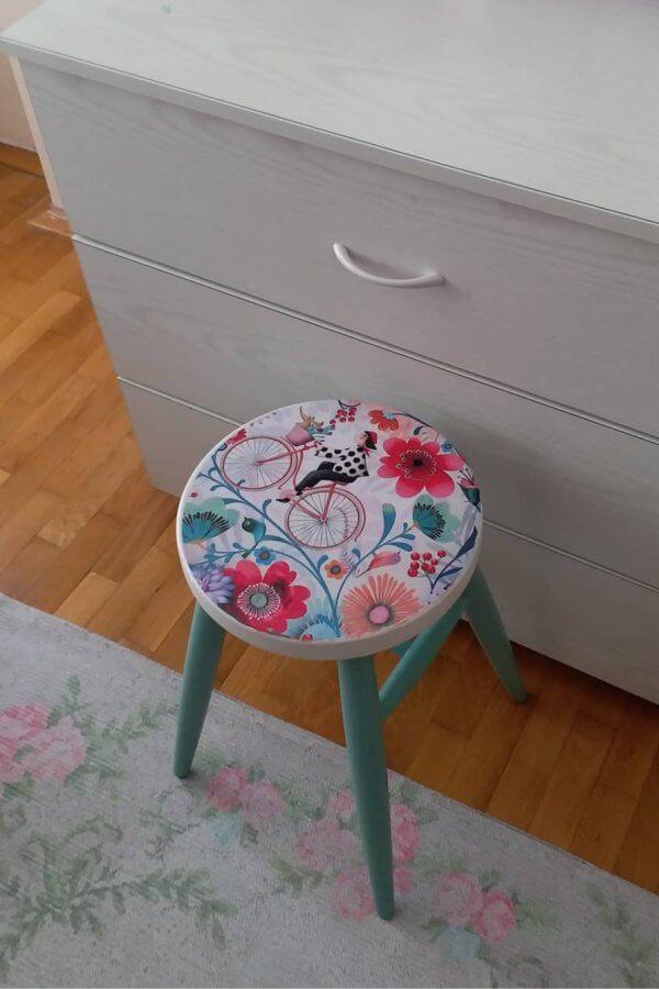 dekoratif-ahsap-tabure-bisiklet-desenli-43033