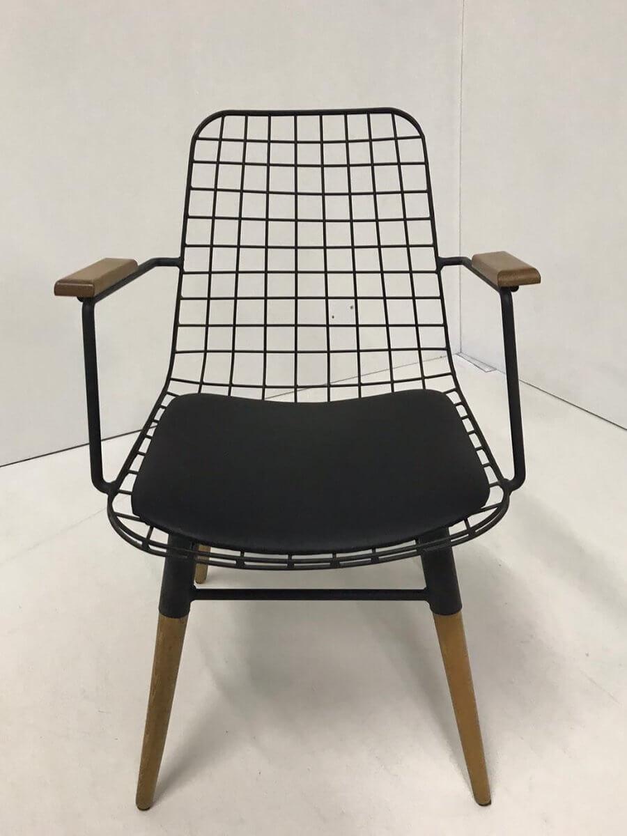 Tel Sandalye Kolçaklı
